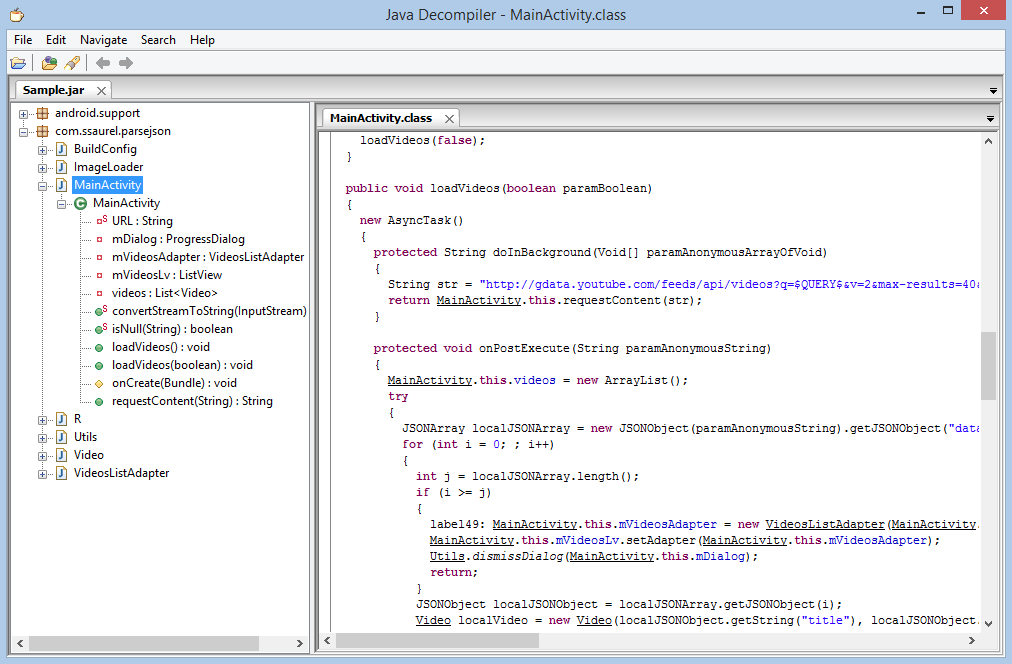 Decompile an APK and get Java source code