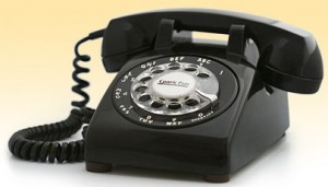 Old Phone with Rotary Dialer