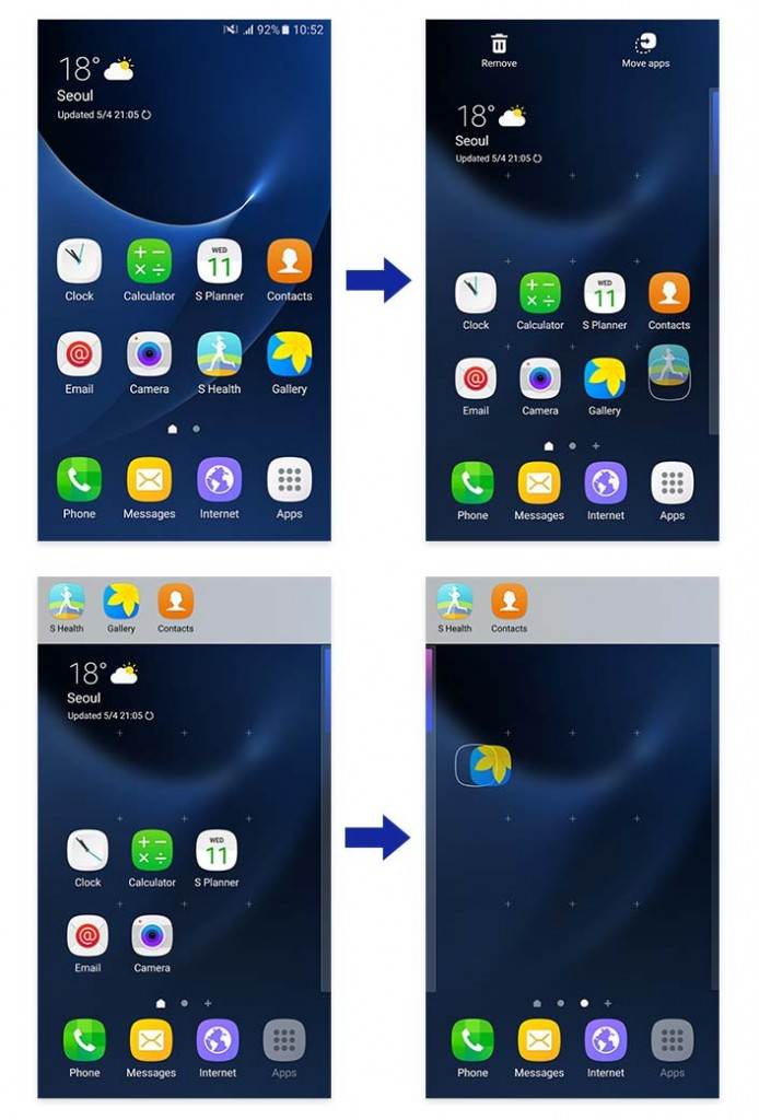 Galaxy S  New Apps Creating New Home Screen