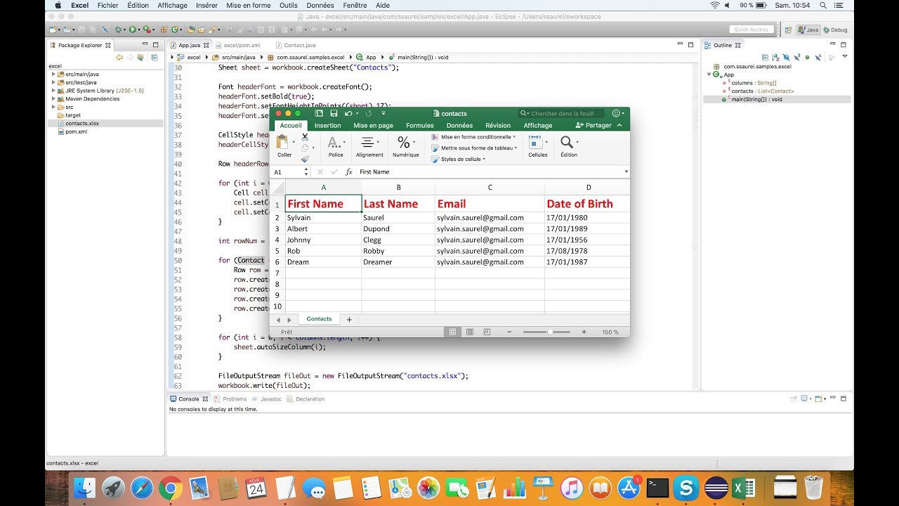 Generating Microsoft Excel XLSX files in Java – All for